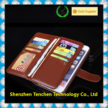 Manufacturer With magnetic buckle Blank Sublimation Flip case Leather Wallet Phone Case For iPhone 6