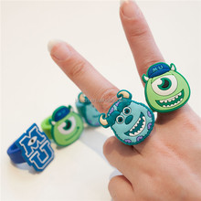 No harm to body non-toxic customized chirldren silicone animal finger ring, kids animal silicone finger bands