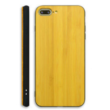 natural wood bamboo + TPU hard back cover hybrid phone case for iPhone 7 wooden case cover china supplier