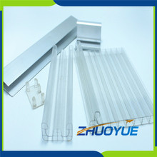 Easy installation 3 wall w-structure u-locked polycarbonate/pc sheet