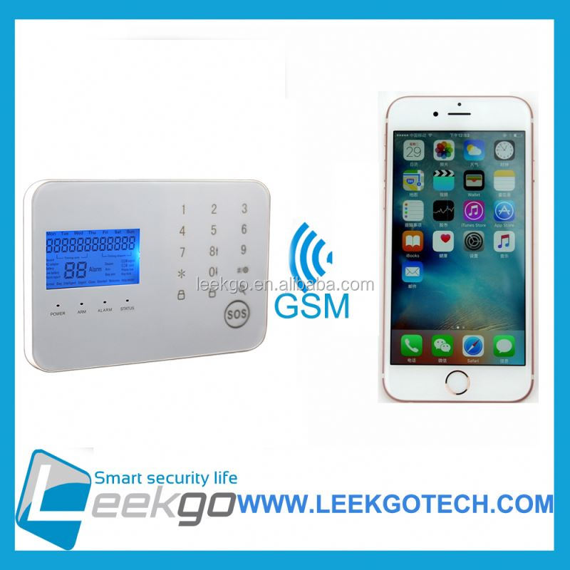 LEEKGO Dual-Network GSM/PSTN wireless home intruder alert gsm alarm system