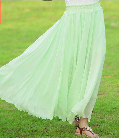 Totti chiffon bust of 2013 ladies bag hip A word skirt Bohemian dress in summer beach skirt of tall waist
