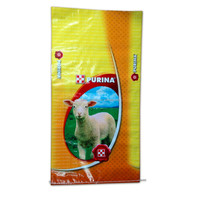 10kg 20kg 50kg Bopp lamination pp woven feed bag with gravure print