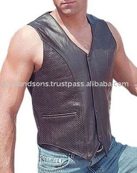 Leather Vests Art No: 1120