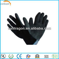 China Latex Working Gloves Black CE
