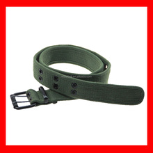 military green new style fashion polyester nylon eyelets jeans men belt