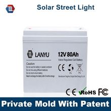12V 80ah nano gel battery deep cycle solar gel battery with long Life