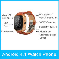 Hot smart watch smartwatch inteligente support SIM 3M camera bluetooth smart watch phone Android 4.4