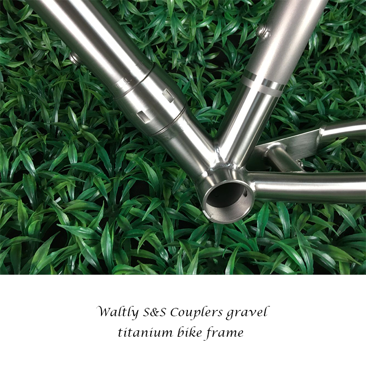 Waltly Gravel Titanium road bike frame for S&S Coupler