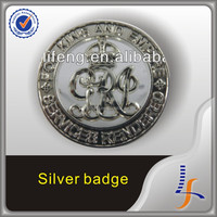 nickel plating Outline 3D metal pin badges