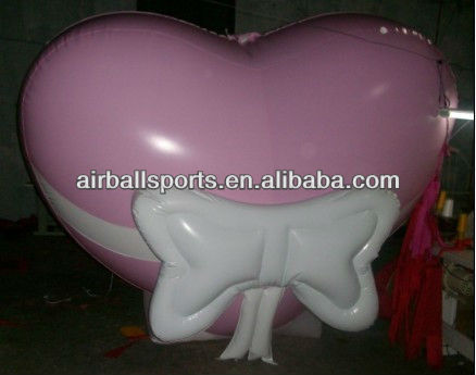 inflatable romantic heart cartoon model/custom inflatable romantic red heart