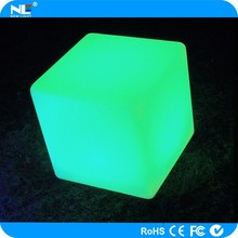 high technology LED Cube outdoor/ LED luminous cube / LED indoor plastic furniture for bar nightclub decoration