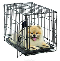 Single-Door Folding Metal Dog Crate, 22 Inches by 13 Inches by 16 Inches