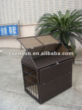 1pc cheap PE rattan wicker garden KD dog house