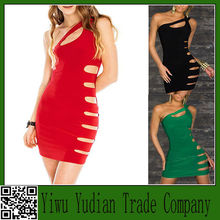 Wholesale One Shoulder Hole Sexy Casual Dress Ladies Night Club Wear