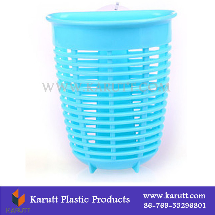 Custom color water filling plastic small kitchenares organizing suction basket