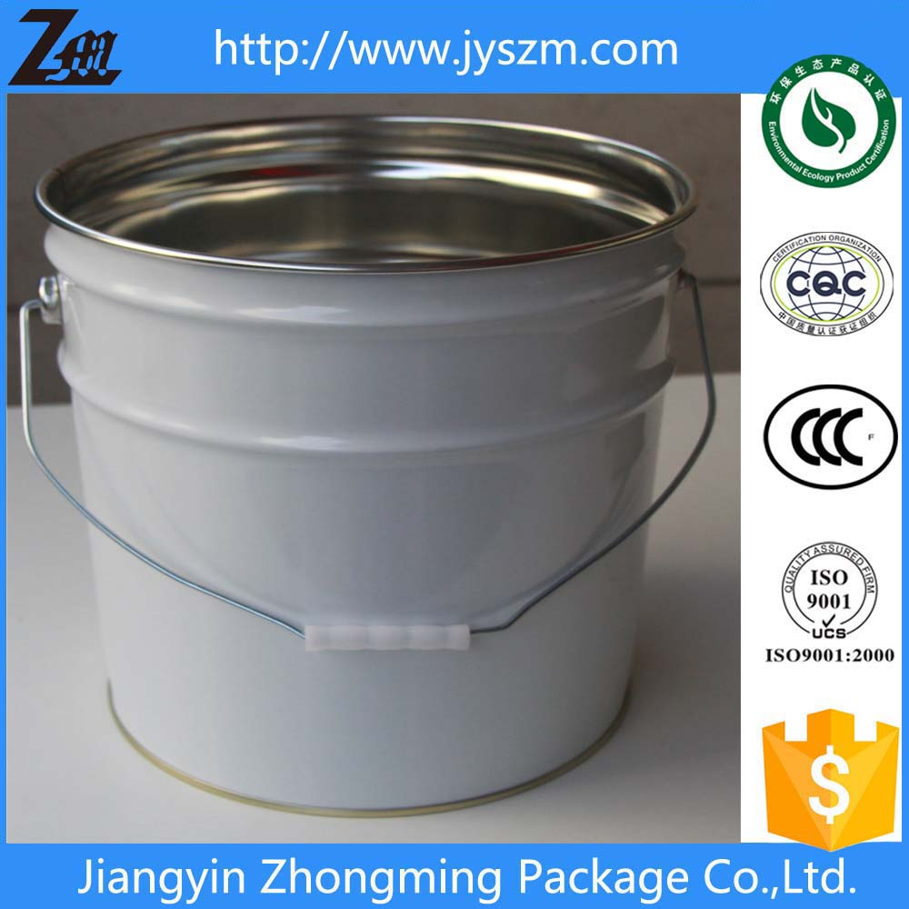 20L tin/tinplate empty paint buckets for sale with lid&handle