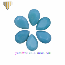 Wholesales pear shape 13x18 crystal green opal color stone for dance garment
