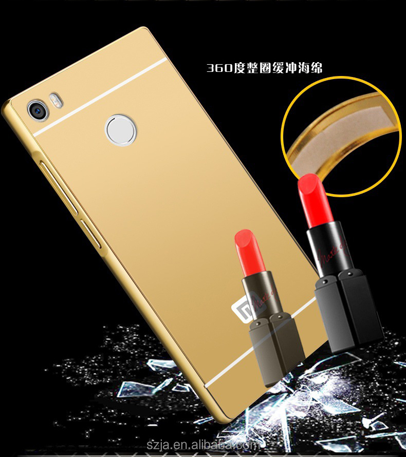 Alibaba Manufacture Eletroplate Mirror Metal Aluminum Bumper Back Cover Phone Case For Xiaomi Mi <strong>Max</strong>