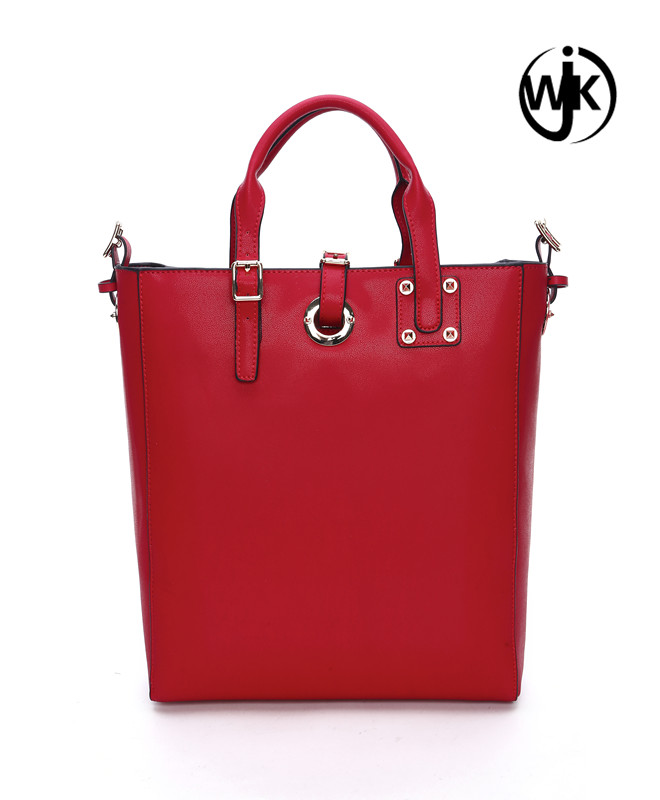 Hot Sell New Arrival Customize Branded Red Fashion Bag Ladies Handbag 2016, Leather Tote Bag for women,o bag italy