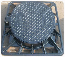 cast iron/concrete standard sized manhole cover