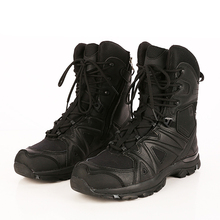 Cemented EVA rubber sole army combat boots
