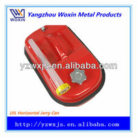 Horizontal portable-type fuel jerry can 10L red and green color