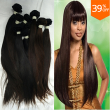 10 Bundles unprocessed straight import indian temple virgin hair ,wholesale hair copper dark brown cheap hair extensions