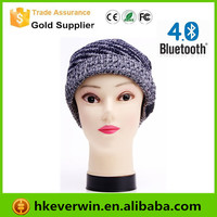 Knitted knight helmet beanie hat bluetooth winter warm hat bluetooth wireless cap