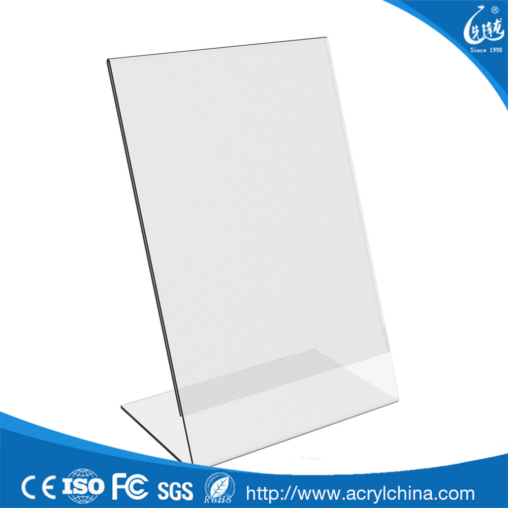 Free Sample 8.5 x 11 Acrylic Sign Holder ,A4 Acrylic Sign Holder Display,Single Sided Slant Back Acrylic Sign Holder