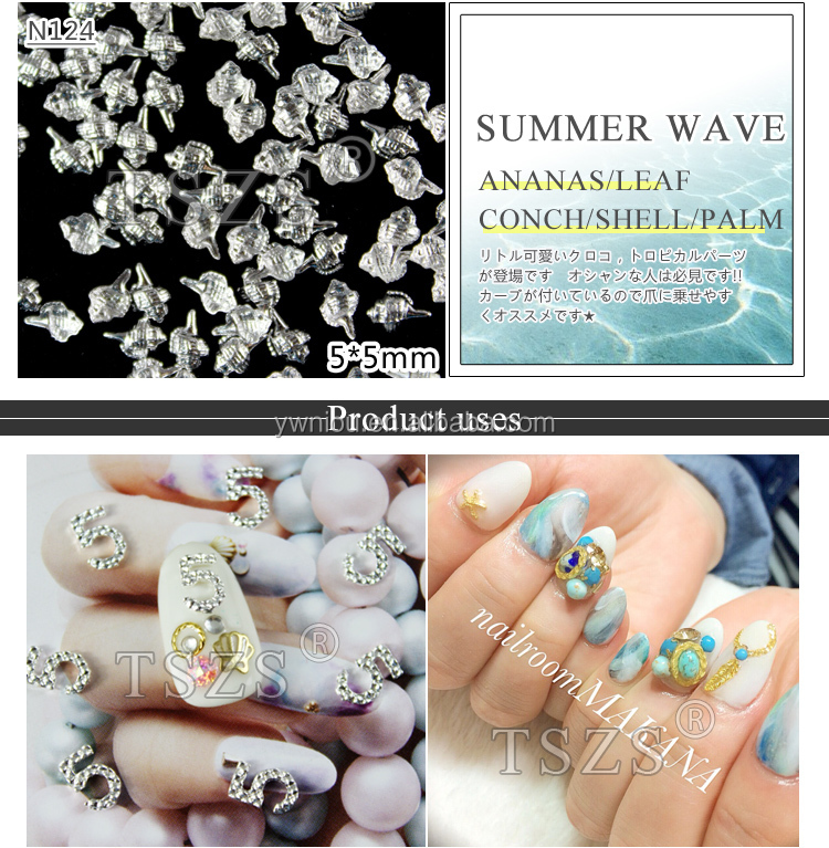 summer conch pineapple nail art decoration jewelry nail accessories