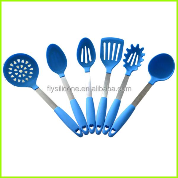 Modern Kitchen Design Set Of Silicone Kitchen Utensils 12 Inch Green Colorful Kitchen Utensils