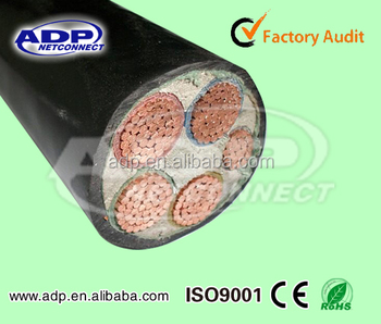 4+1 core underground power cable YJV