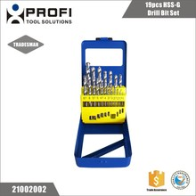 China Wholesales Alibaba 19Pcs 1MM - 10MM HSS Drill Bit Set In Case