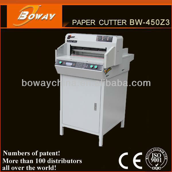 900~1100 USD CE ISO Boway 450mm CM Inches Digital Electric Guillotine Paper Cutting Machine Price