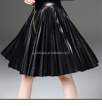2017 winter fashion colorful High Waist Pleated short skirt China factory