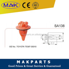 MAK FORToyota With Sealer Wheel Flare Moulding Car Clips 75397-35010