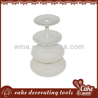 Plastic lighted acrylic cupcake stand