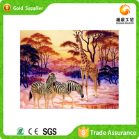 With more than 10 years manufacture experience 3d diamond art oil painting of zebra