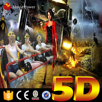 Popular 9 Seats 6DOF 5d cinema snow machine with special effects