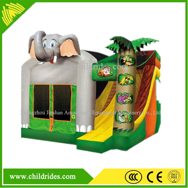 Hot sale kids inflatable jumping bouncy combo/outdoor inflatable bounce castle /inflatable bouncy house