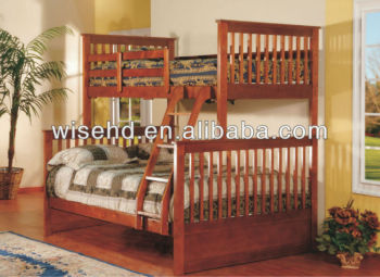 ( WJZ-B71 ) pine wood bunk bed bedroom furniture