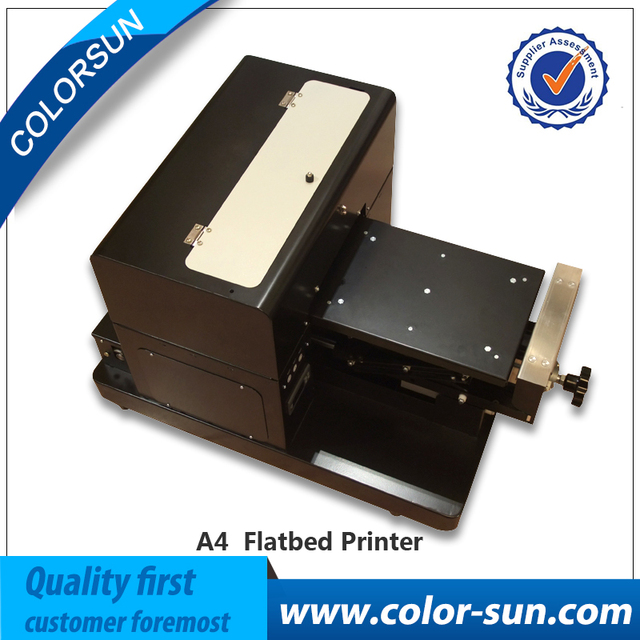 desktop A4 t-shirt printing machine direct to garment flabted printer