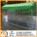 4.6 x1.5 x 1.8m Pet Dog Enclosure Run Kennel Chain Link Fence FULL Enclosed Roof