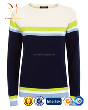 2016 New Fashion Ladies Pullover Sweater Spring Knitwear Stripe Sweater Jumper