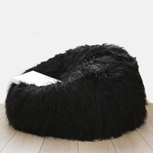 Taidian living room sofa Black bean bag sofa Faux Fur bean bag chairs bulk