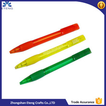 Fashion customized colourful tranparent plastic ballpoint pen