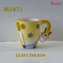 high quality ceramic giraffe shape mug