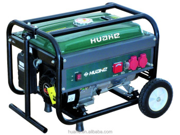 2000W petrol generator with handles and wheels single cylinder 4 stroke