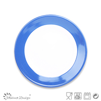 restaurant use Colored Rim Cheap Salad Plates